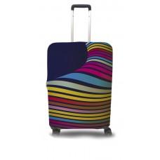 Чехол для чемодана Coverbag волны  M принт 0402