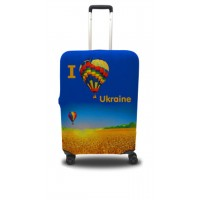 Чехол для чемодана Coverbag я люблю Украину  M принт 0403
