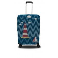 Чехол для чемодана Coverbag маяк S принт 0405
