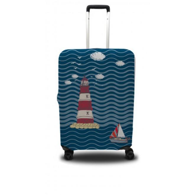 Чехол для чемодана Coverbag маяк M принт 0405