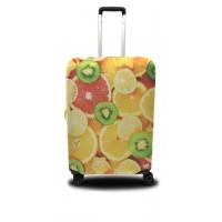 Чехол для чемодана Coverbag апельсины M принт 0407