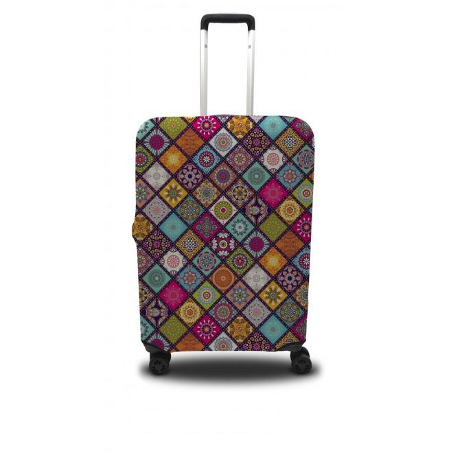 Чехол для чемодана Coverbag ромбы M принт 0408