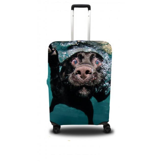 Чехол для чемодана Coverbag собака L принт 0409