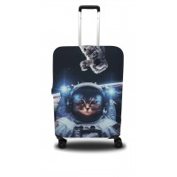 Чехол для чемодана Coverbag кот S принт 0411