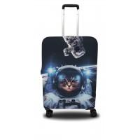Чехол для чемодана Coverbag кот M принт 0411