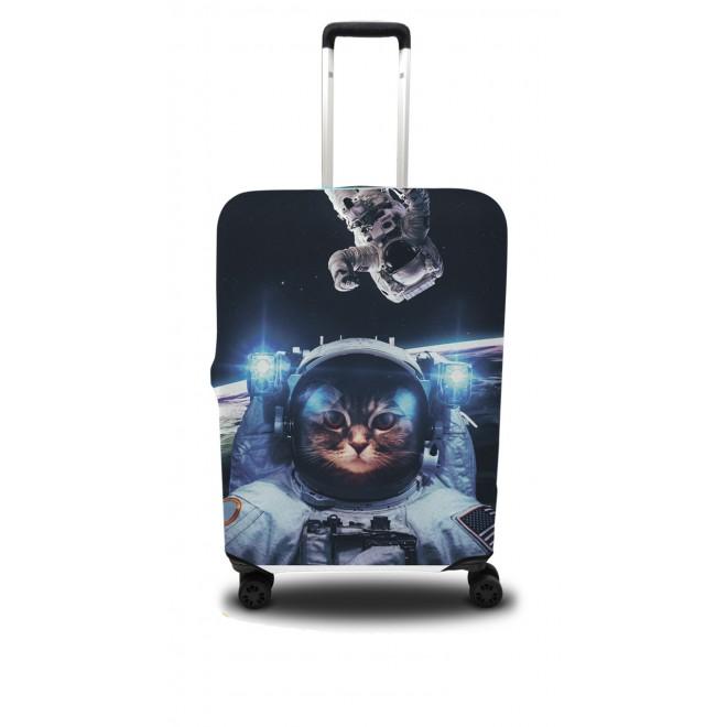 Чехол для чемодана Coverbag кот L принт 0411
