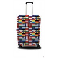 Чехол для чемодана Coverbag флаги мира L принт 0413
