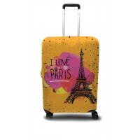 Чехол для чемодана Coverbag Париж  M принт 0414