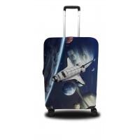 Чехол для чемодана Coverbag шатл M принт 0415