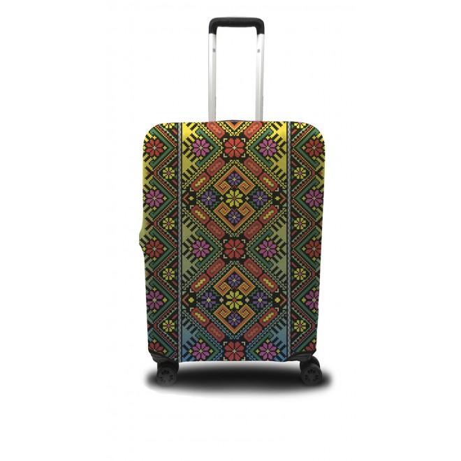 Чехол для чемодана Coverbag украинский орнамент L принт 0416