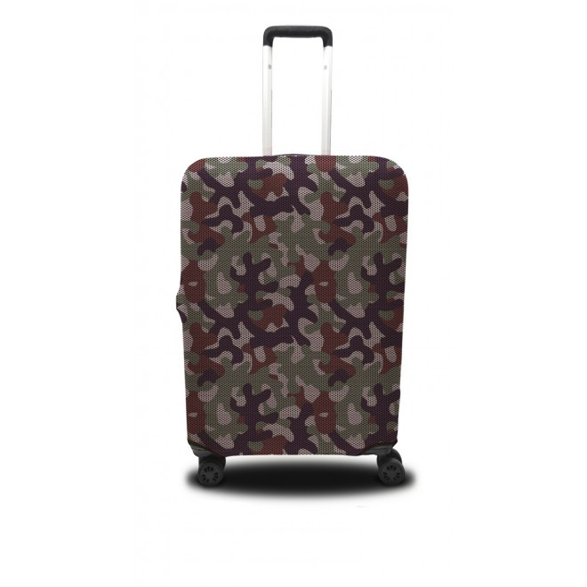 Чехол для чемодана Coverbag хаки S зпринт 0417