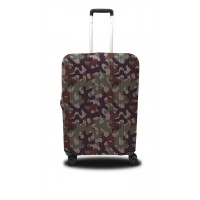 Чехол для чемодана Coverbag  хаки L принт 0417