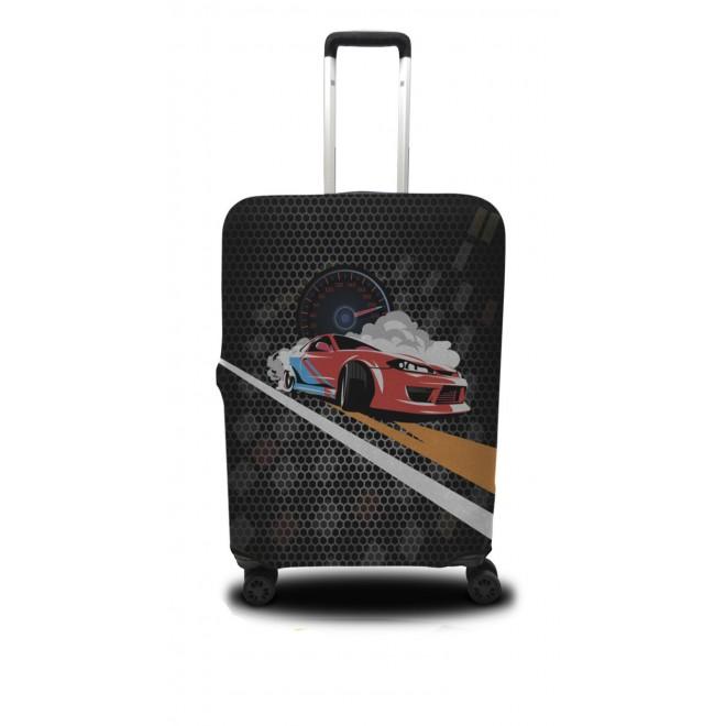 Чехол для чемодана Coverbag дрифт L принт 0418