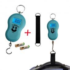 Весы для багажа голубые