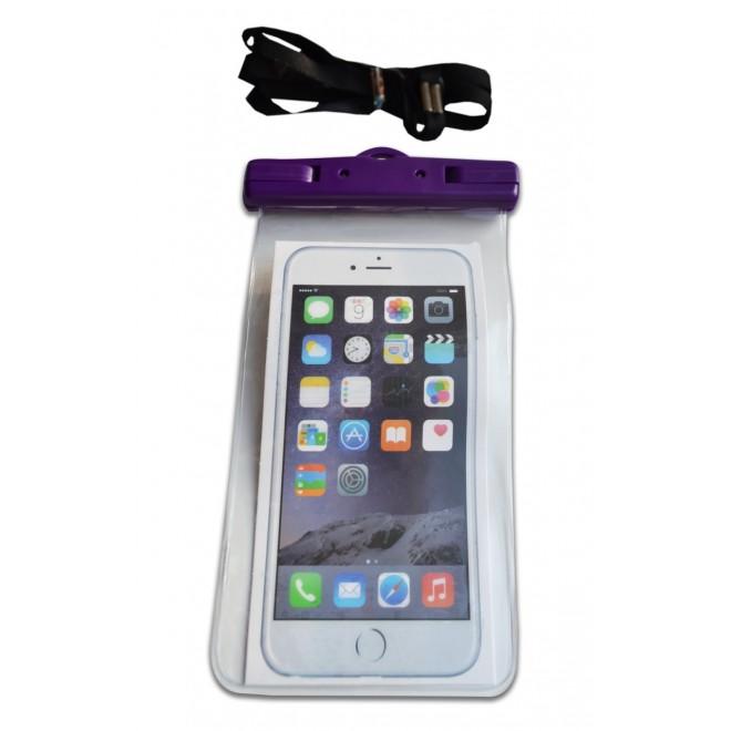 Водонепроницаемый чехол для телефона фиолетовый с защелками