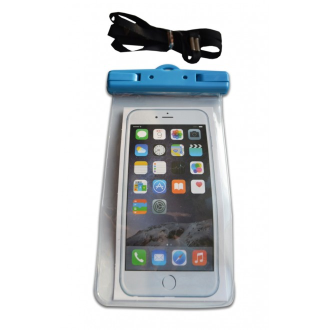 Водонепроницаемый чехол для телефона голубой