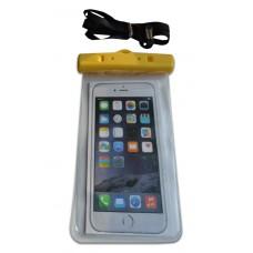 Водонепроницаемый чехол для телефона желтый с защелками