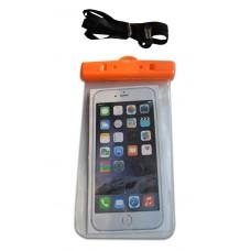 Водонепроницаемый чехол для телефона оранжевый с защелками