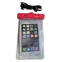 Водонепроницаемый чехол для телефона розовый с защелками
