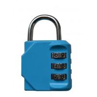 Багажный замок кодовый голубой 09