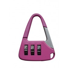 Багажный замок кодовый розовый 13