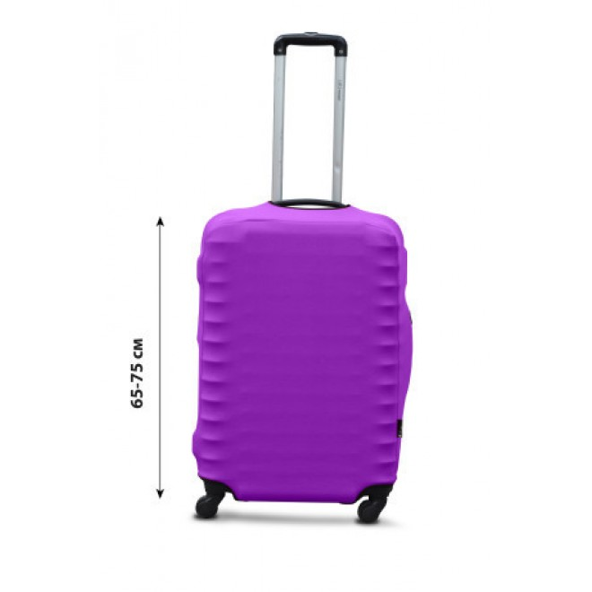 Чехол для чемодана Coverbag дайвинг L сиреневый