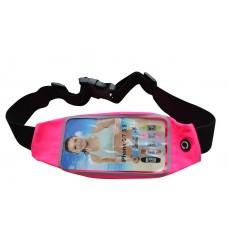 Универсальный чехол на пояс  для смартфона розовый