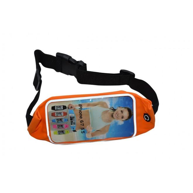 Универсальный чехол на пояс для смартфона оранжевый