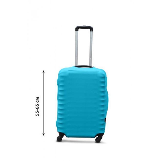 Чехол для чемодана Coverbag дайвинг M бирюза