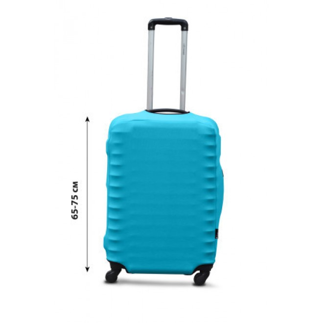 Чехол для чемодана Coverbag дайвинг L бирюза