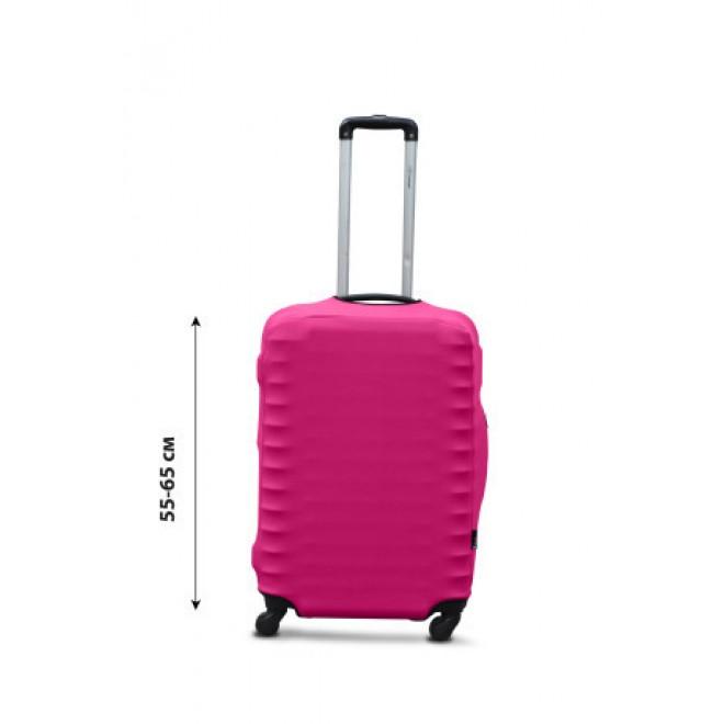 Чехол для чемодана Coverbag дайвинг M фуксия