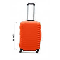 Чехол для чемодана  Coverbag дайвинг  M оранжевый