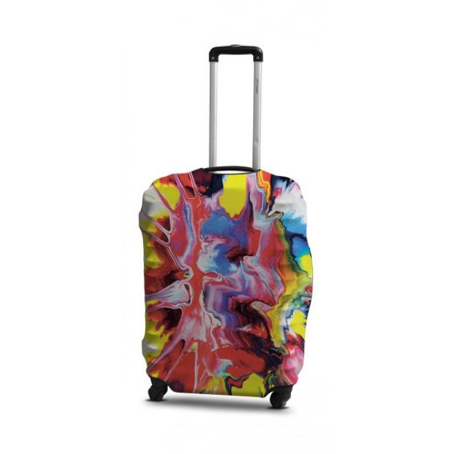 Чехол для чемодана Coverbag абстракция S принт 0420