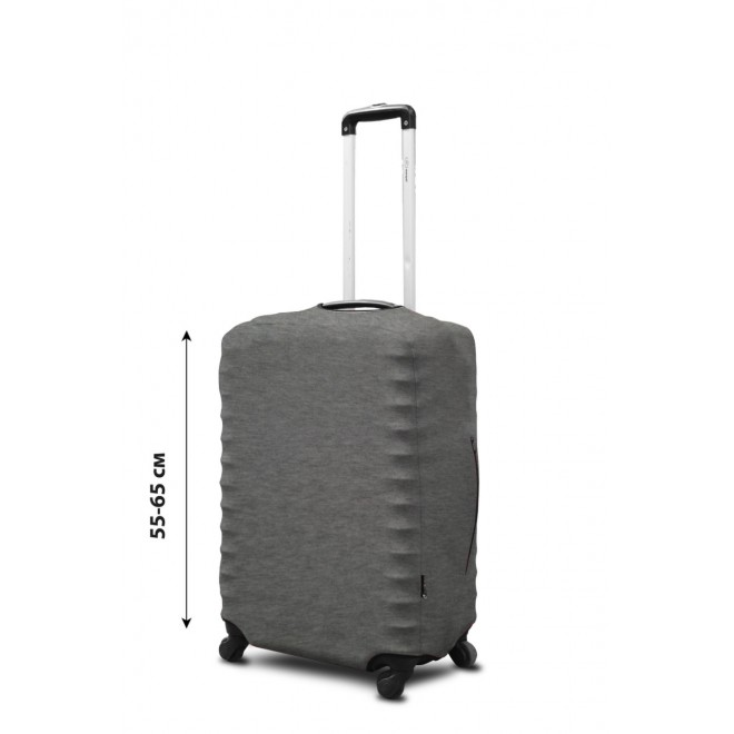 Чехол для чемодана Coverbag неопрен M серый меланж