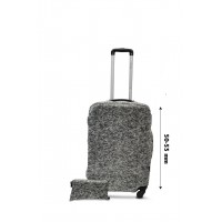 Чехол для чемодана  Coverbag  дайвинг  S серый меланж