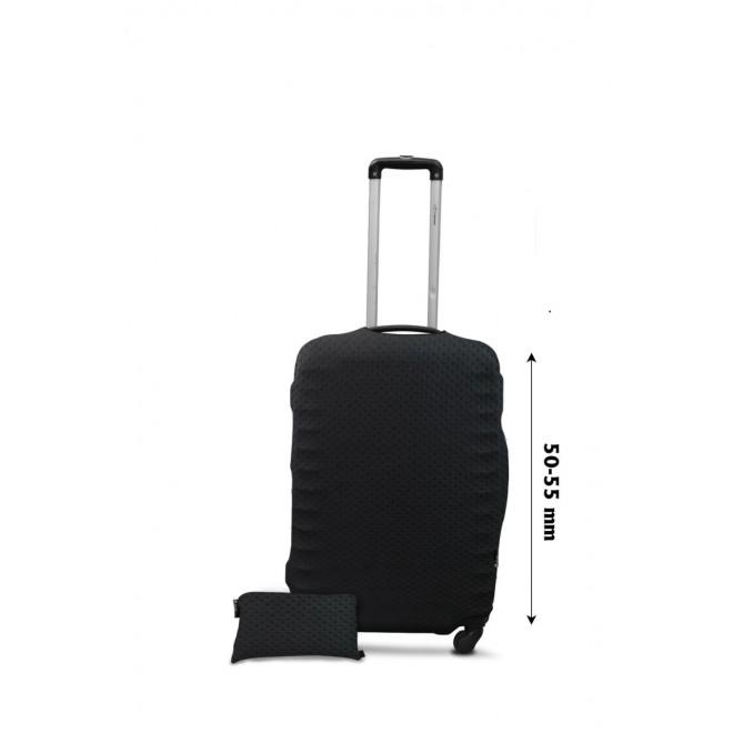 Чехол для чемодана Coverbag неопрен Strong S точки черные