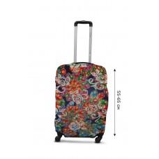 Чехол для чемодана  Coverbag дайвинг  M павлин разноцветный