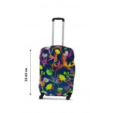 Чехол для чемодана  Coverbag дайвинг  M полевые цветы разноцветный
