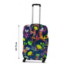 Чехол для чемодана  Coverbag дайвинг L полевые цветы разноцветный