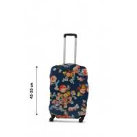 Чехол для чемодана  Coverbag  дайвинг  S цветы на синем