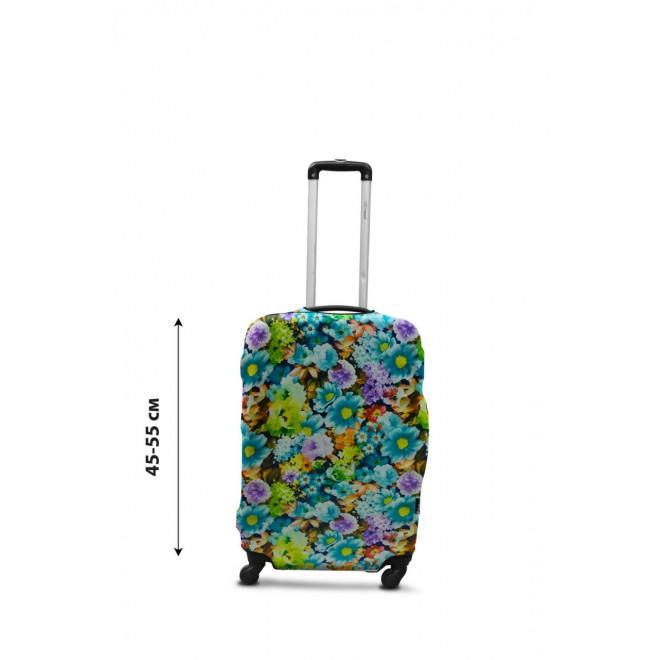 Чехол для чемодана Coverbag дайвинг S весенние цветы разноцветный