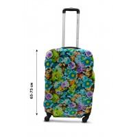 Чехол для чемодана  Coverbag дайвинг L весенние цветы разноцветный