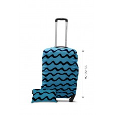 Чехол для чемодана  Coverbag дайвинг  M волны бирюза