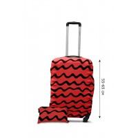 Чехол для чемодана  Coverbag дайвинг  M волны коралл
