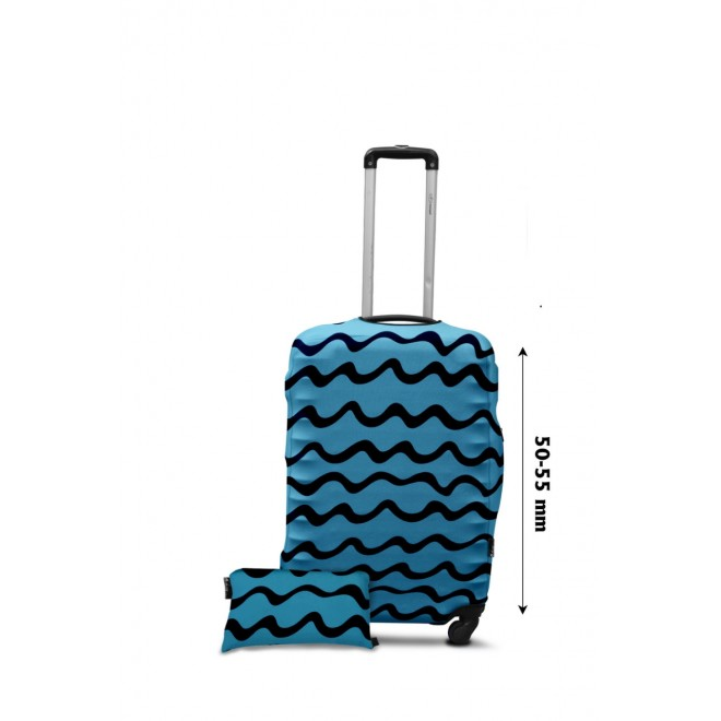 Чехол для чемодана Coverbag дайвинг S волны бирюза