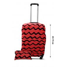 Чехол для чемодана  Coverbag дайвинг L волны коралл