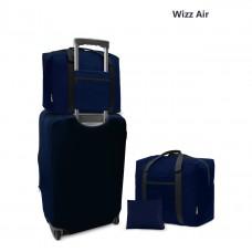 Дорожная сумка для ручной клади Coverbag синяя 40*30*20 см Wizzair